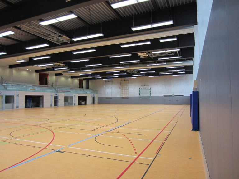 Neubau erweiterter Zwei-Feld-Sporthalle Marie-Curie-Gymnasium Bad Berka (2011)