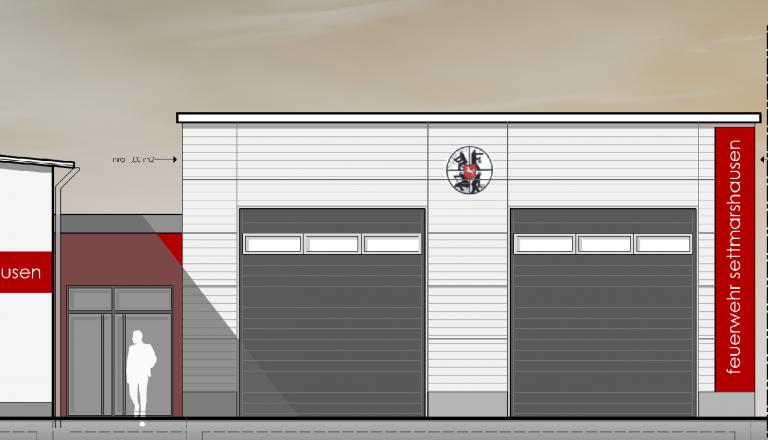 Neubau Feuerwehrhaus und Fahrzeughalle Settmarshausen (2020)
