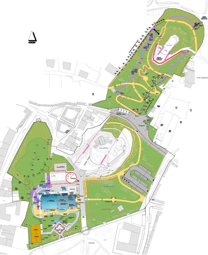 4. BA Kurpark Bad Frankenhausen mit Integration eines SoleWasserVitalParks  mit Neubau des Mehrzweckgebäudes, Neubau SolewasserVitalpark,  Erneuerung Kurparkaußenbeleuchtung (2013)