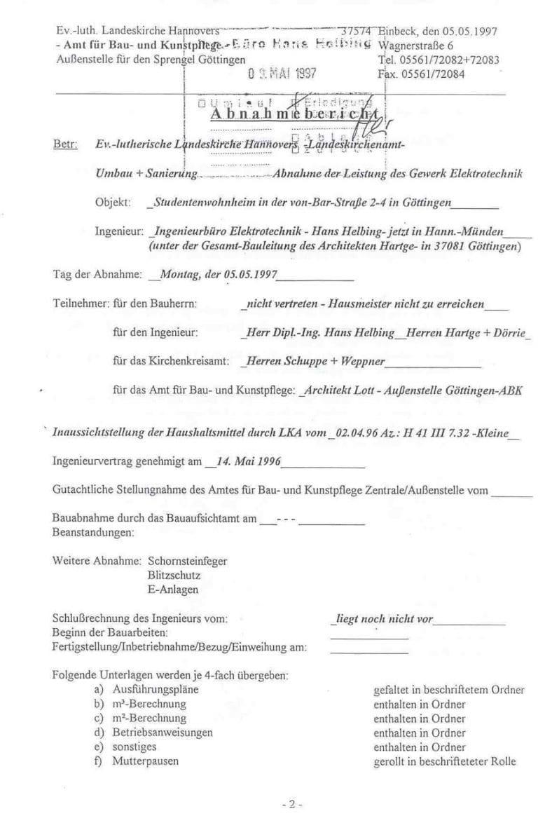 Grundsanierung Wohnheim  der Evangelischen Studentengemeinschaft Göttingen (1997)