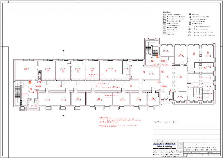 Instituts- und Verwaltungsgebäude der Friedrich Schiller Universität Jena Otto-Schott-Institut für Glaschemie, Frauenhoferstraße 6  Einbau automatisches Brandmeldesystem (2003)